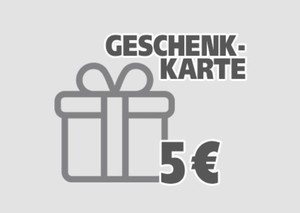 Geschenkgutschein ,  5 EUR Geschenkkarte per E-Mail