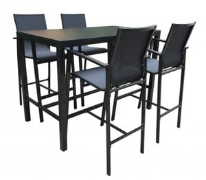 TrendLine Bar Set Kreta ,  1 Tisch 4 Sessel