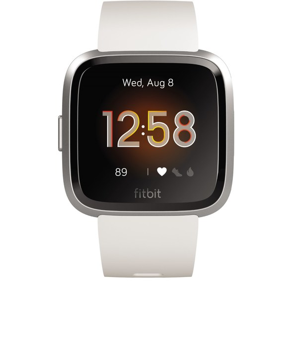 Fitbit Versa Lite Smartwatch white/silver aluminum