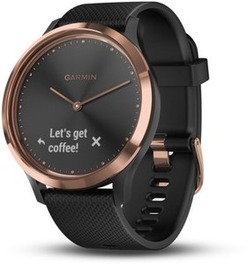Garmin vivomove HR Sport S/M Activity Tracker schwarz/roségold