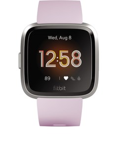 Fitbit Versa Lite Smartwatch lilac/silver aluminum