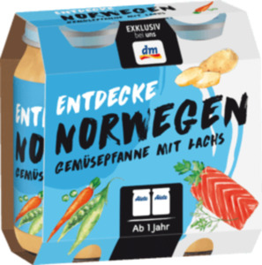 Alete Kindermenü Entdecke Norwegen Gemüsepfanne mit Lachs ab 1 Jahr, 2x250g