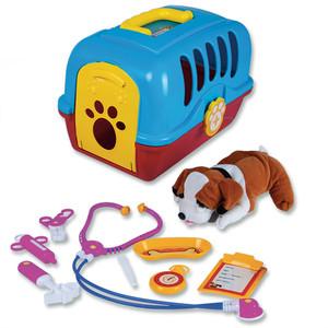 Tierarztkoffer mit Plüschhund und Zubehör