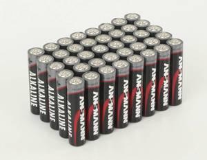 Alkaline Batterien, 40er Pack + Aufbewahrungsbox für Batterien Ansmann