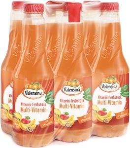 Valensina Vitamin-Frühstück Multi-Vitamin Saft 6x 1 ltr PET