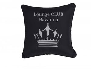 Primaster Kissen Lounge Club Havanna ,  45 x  45 cm, schwarz