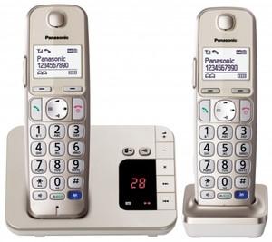 Panasonic Telefon KX-TGE222GN ,  schnurlos, champagner, AB
