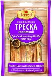 Pikanter Snack aus Pazifischem Kabeljau (Gadus macrocephalus...