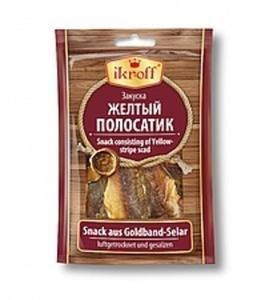 Snack aus Goldband-Selar (Selaroides leptolepis), luftgetroc...