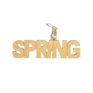 Schriftzug Spring, 35x3x18cm, natur