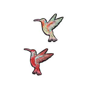Aufkleber Kolibri, L:7cm, 2 Stück, bunt