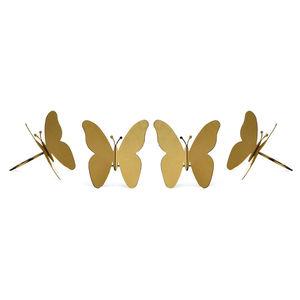 Serviettenring Schmetterling, 4 Stück, gold