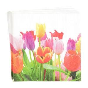 Serviette Tulpen, 20 Stück, FSC® Mix, bunt