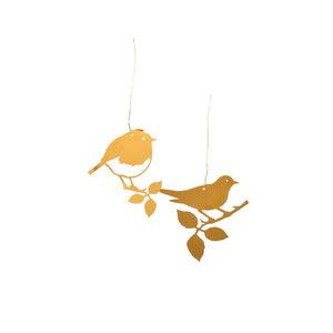 Anhänger Bird, 2 Stück, L:8cm, gold