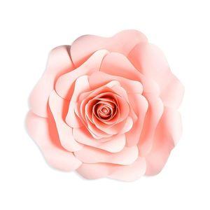 Papierdekoblüte Rose, D:31cm, rosa