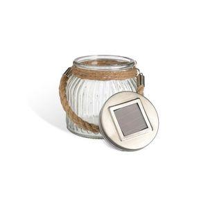 Solarleuchte Glas, H:11,5cm x D:10,5cm, klar