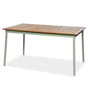 Esstisch, FSC® 100% Eukalyptusholz, L:150cm x H:76cm, mintgrün/natur
