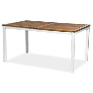 Esstisch, Eukalyptusholz FSC® 100%, 150x89x74,4cm, weiß/natur