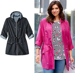 Laura Torelli plus (Gr. 44-58) Damen-Jacke zum Zusammenfalten, große Größen