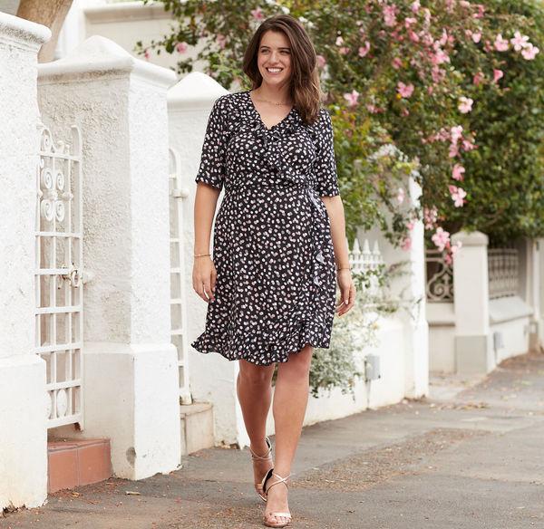 f84a7497f851cf Laura Torelli plus (Gr. 44-58) Damen-Kleid mit Volants, große Größen ...
