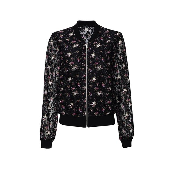 Laura Torelli COLLECTION Damen-Spitzenblouson mit schicken Blumen