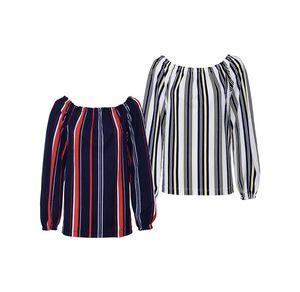 Laura Torelli Young Fashion Damen-Shirt mit elastischem Carmen-Ausschnitt