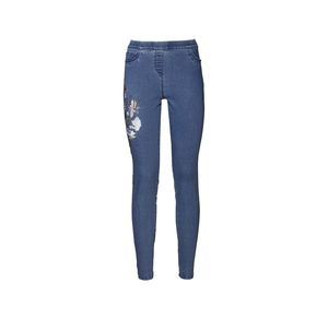 Laura Torelli COLLECTION Damen-Jeggings mit Blumen-Stickerei