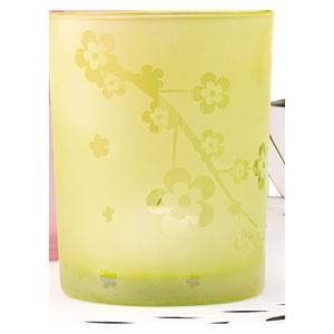 casaNOVA Windlicht FLOWER 18 cm Glas grün
