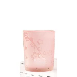 casaNOVA Windlicht FLOWER 10 cm Glas rosa