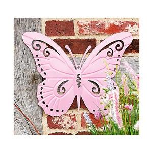 casaNOVA Deko Schmetterling 45 cm Metall rosa