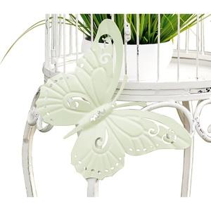 casaNOVA Deko Schmetterling 45 cm Metall grün