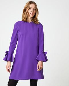A-Linien-Kleid mit Ring- & Schleifendetails