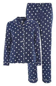 Marineblaues Pyjamaset mit Punkten