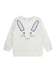 Baby Sweatshirt mit Häschen-Applikation