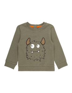 Baby Sweatshirt mit Monster-Print
