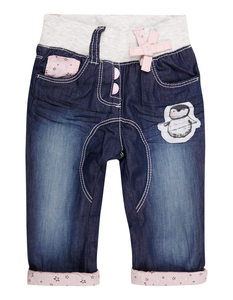 Newborn Thermo-Jeans mit Pinguin-Aufnäher