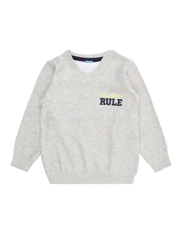 Baby Pullover im Double-Layer-Look