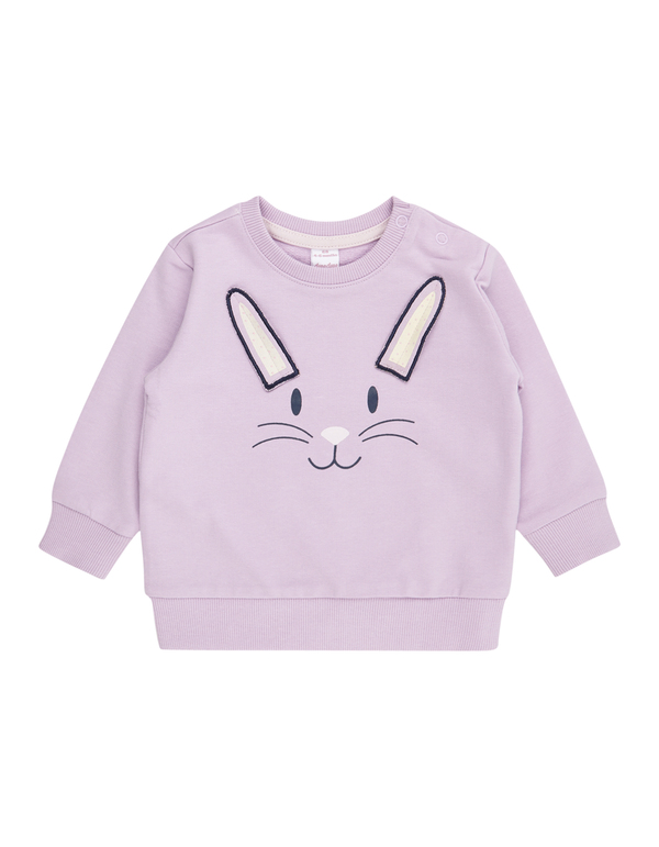 Newborn Sweatshirt mit Hasen-Stickerei