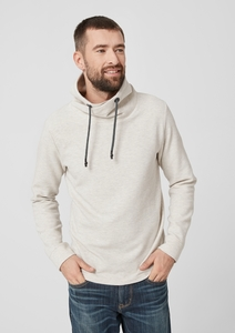 Struktur-Sweatshirt mit Turtleneck