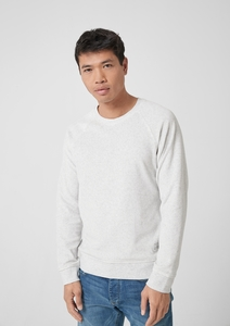 Meliertes Nicki-Sweatshirt