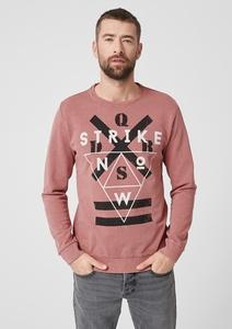 Sweatshirt mit Used-Effekten