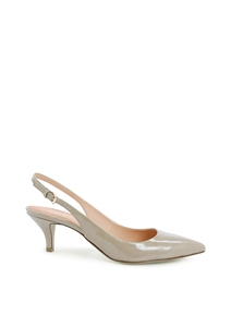 Slingpumps aus Lackleder