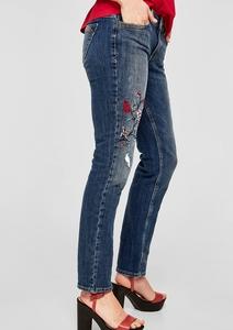 Shape Slim: Embroidered Used-Jeans