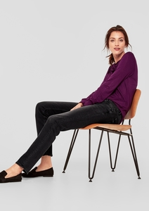 Smart Straight: Graue Stretchjeans