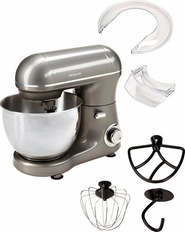 Hanseatic Küchenmaschine LW6835G1 grey, 600 W, 4 l Schüssel
