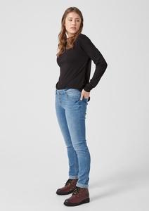 Catie Slim: Denim mit Knopfleiste