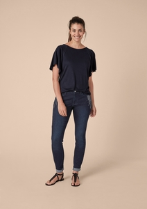 Curvy Extra Slim Leg: Pailletten-Jeans