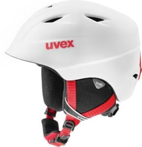 Skihelm airwing 2 pro, white-red mat Gr. 52-54