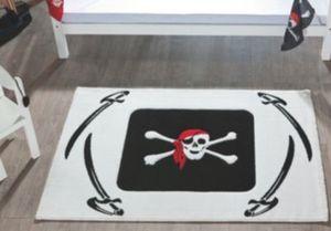 Kinderteppich Pirat, weiß, 170 x 120 cm Gr. 120 x 170