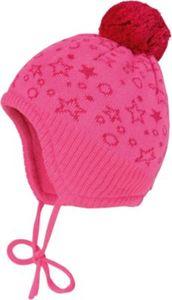 Baby Bommelmütze zum Binden Gr. 45 Mädchen Baby